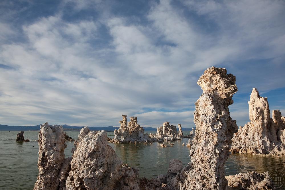 """Tufas at Mono Lake 11"" - These tufas were photographed at the South Tufa area in Mono Lake, California."
