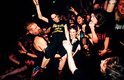 "Nu Metal ""Cradle Of Filth"" fan crowd surfs, UK 2000's."