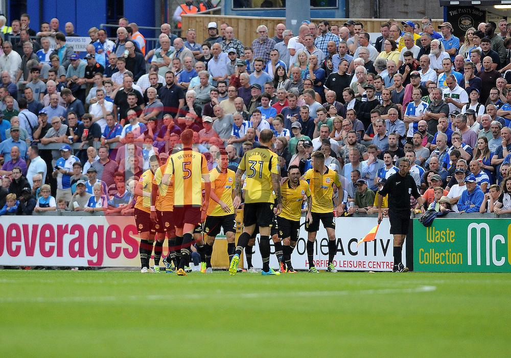 Bolton Wanderers celebrate their first goal - Mandatory by-line: Neil Brookman/JMP - 17/08/2016 - FOOTBALL - Memorial Stadium - Bristol, England - Bristol Rovers v Bolton Wanderers - Sky Bet League One