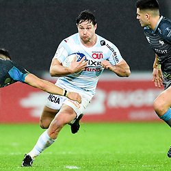 Henry Chavancy of Racing 92 takes on Luke Morgan and Tiaan Thomas-Wheeler of Ospreys during the European Rugby Challenge Cup, Pool 4 match between Ospreys and Racing 92 on December 7, 2019 in Bristol, United Kingdom. (Photo by Paul Lockyer / Icon Sport) - Liberty Stadium - Swansea (Pays de Galles) - Liberty Stadium - Swansea (Pays de Galles)