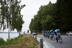 Movistar Women's Team at Ladies Tour of Norway 2018 Team Time Trial, a 24 km team time trial from Aremark to Halden, Norway on August 16, 2018. Photo by Sean Robinson/velofocus.com