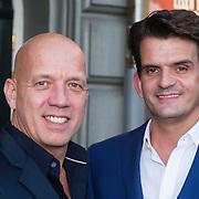 NLD/Amsterdam/20130903 - Inloop premiere Stiletto 2, Maurice Wijnen en partner Ronald den Ouden