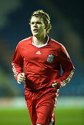 LEICESTER, ENGLAND - Tuesday, January 12, 2010: Liverpool's Chris Buchtmann in action against Leicester City during the FA Youth Cup 4th Round match at the Walkers Stadium. (Photo by David Rawcliffe/Propaganda)