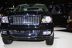 09 February 2005:   Lincoln Mark LT light Truck pickup<br /> <br /> <br /> First staged in 1901, the Chicago Auto Show is the largest auto show in North America and has been held more times than any other auto exposition on the continent.  It has been  presented by the Chicago Automobile Trade Association (CATA) since 1935.  It is held at McCormick Place, Chicago Illinois