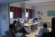 Roma 1 Settembre 2008. Riunione di redazione al quotidiano Il Manifesto...