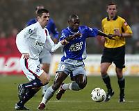 Fotball<br /> Toulouse v Paris Saint Germain<br /> 14. februar 2004<br /> Foto: Digitalsport<br /> Norway Only<br /> <br /> PAULETA (PSG) / ACHILLE EMANA (REN)  *** Local Caption *** 40001047