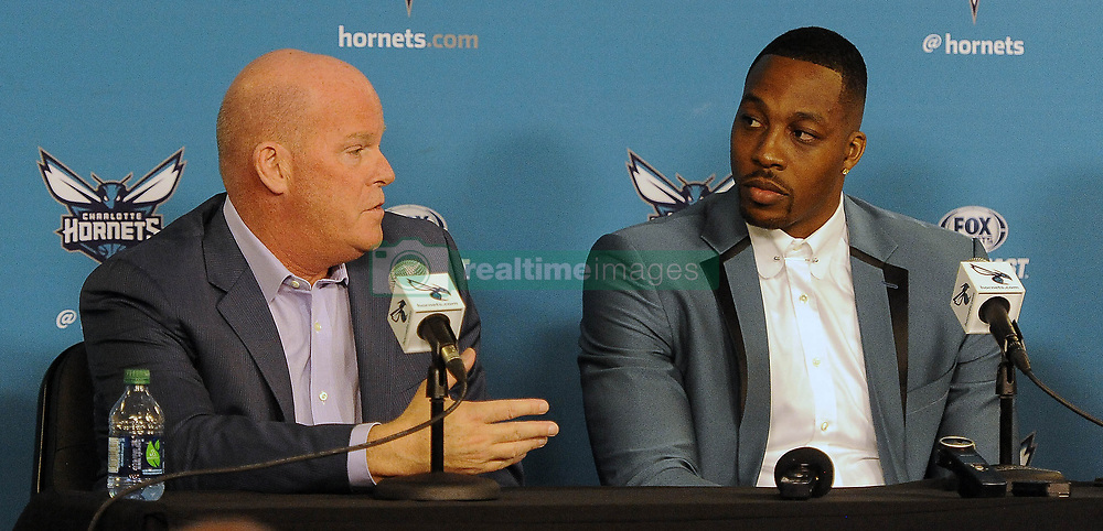 June 26, 2017 - Charlotte, NC, USA - Charlotte Hornets head coach Steve Clifford talks about the positive traits of center Dwight Howard during a news conference on Monday, June 26, 2017 at the Spectrum Center in Charlotte, N.C. (Credit Image: © David T. Foster Iii/TNS via ZUMA Wire)