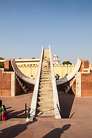 Laghu Samrat Yantra, a sundial at Jantar Mantar in Jaipur, Rajasthan, India. This is a collection of architectural astronomical instruments.