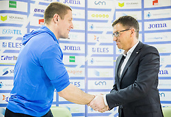 Matija Kranjc and Roman Dobnikar during press conference when Slovenian athletes and their coaches sign contracts with Athletic federation of Slovenia for year 2016, on February 25, 2016 in AZS, Ljubljana, Slovenia. Photo by Vid Ponikvar / Sportida