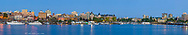 Panoramic view of the inner harbour of Victoria British Columbia Canada
