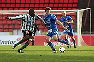22.05.2008, Ratina, Tampere, Finland..Veikkausliiga 2008 - Finnish League 2008.Tampere United - FC KooTeePee.Jussi Kuoppala (TamU) v Obinna Okafor (KooTeePee).©Juha Tamminen.....ARK:k