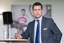 © Licensed to London News Pictures . 25/09/2015 . Doncaster , UK . STEVEN WOOLFE at a fringe event at the 2015 UKIP Party Conference at Doncaster Racecourse , this morning (Friday 25th September 2015) . Photo credit : Joel Goodman/LNP