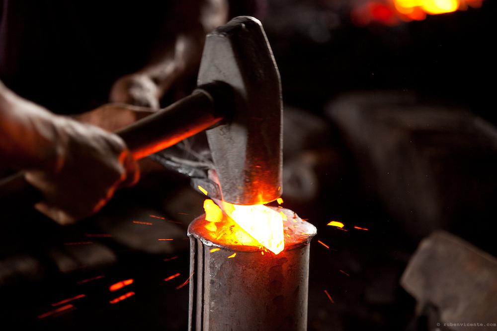 Ironsmith at Inle Lake. Myanmar