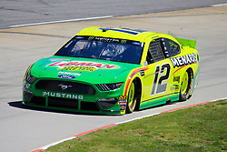 March 23, 2019 - Martinsville, VA, U.S. - MARTINSVILLE, VA - MARCH 23: #12: Ryan Blaney, Team Penske, Ford Mustang Menards/Libman during final practice for the STP 500 Monster Energy NASCAR Cup Series race on March 23, 2019 at the Martinsville Speedway in Martinsville, VA.  (Photo by David J. Griffin/Icon Sportswire) (Credit Image: © David J. Griffin/Icon SMI via ZUMA Press)