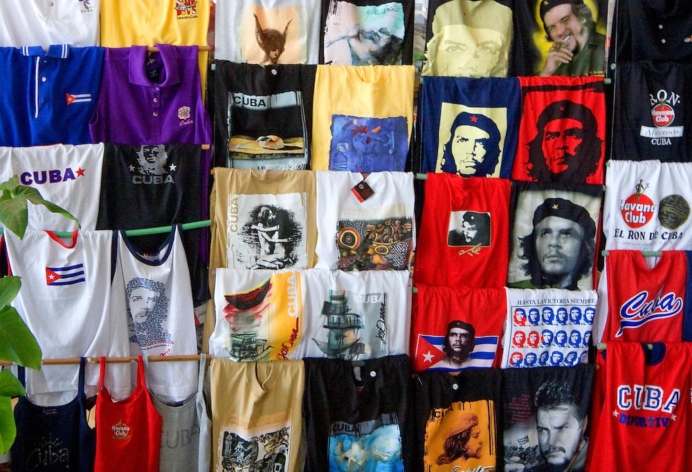 Tourist shirts in Varadero, Matanzas, Cuba.