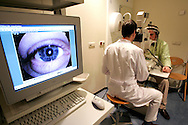 The Hague. Hospital. MCH. Medisch Centrum Haaglanden. Examination of the eyes..Photo: Gerrit de Heus