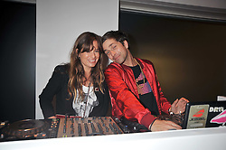 JADE JAGGER and DAN WILLIAMS at the MAC Salutes party paying tribute to renowned makeup artists held at The Hosptal, Endell Street, London on 22nd February 2009.