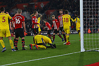 Football - 2018 / 2019 Premier League - Southampton vs. Crystal Palace<br /> <br /> Mamadou Sakho of Crystal Palace sinks to his knees after putting a close range header over the bar at St Mary's Stadium Southampton<br /> <br /> COLORSPORT/SHAUN BOGGUST