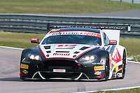 Jonathan Adam (GBR) / Derek Johnston (GBR)  #17 TF Sport  Aston Martin V12 Vantage GT3  Aston Martin 6.0L V12, British GT Championship at Rockingham, Corby, Northamptonshire, United Kingdom. April 30 2016. World Copyright Peter Taylor/PSP.