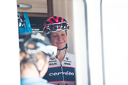 Stephanie Pohl (GER) of Cervélo-Bigla Cycling Team prepares for Stage 8 of the Giro Rosa - a 141.8 km road race, between Baronissi and Centola fraz. Palinuro on July 7, 2017, in Salerno, Italy. (Photo by Balint Hamvas/Velofocus.com)