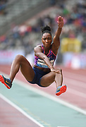 Tianna Bartoletta (USA) places fourth in the women's long jump at 21-9 (6.63m) during the 42nd Memorial Van Damme in an IAAF Diamond League meet at King Baudouin Stadium in Brussels, Belgium on Friday, September 1, 2017. (Jiro Mochizuki/Image of Sport)