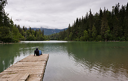 Mosquito Lake State Recreation Site is 27 miles from Haines, Alaska. A small campground is located at the lake, in a Sitka spruce and Western hemlock forest. The also has a dock and a boat launch along with a picnic shelter.