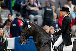 SAFRONOVA Olga (BLR), Sandro D Amour<br /> Göteborg - Gothenburg Horse Show 2019 <br /> FEI Dressage World Cup™ Final I<br /> Int. dressage competition - Grand Prix de Dressage<br /> Longines FEI Jumping World Cup™ Final and FEI Dressage World Cup™ Final<br /> 05. April 2019<br /> © www.sportfotos-lafrentz.de/Stefan Lafrentz