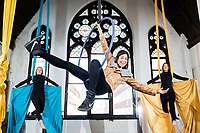No repro fee<br /> 22-5-18<br /> Leap Into Action &ndash; Apply Now: Picture shows actor and writer Stefanie Preissner ,with &Aacute;ine Mahon (left) and Kate Dunne (right) from Aerial Cirque who today launched the 2018 Coca-Cola Thank You Fund, calling on youth-oriented non-profits and community groups to leap into action and apply for funding. Coca-Cola will award a total of &euro;100,000 to youth-oriented non-profit organisations making a difference to their communities. Grants will be awarded in &euro;5,000, &euro;10,000 and &euro;30,000 amounts and applications will be accepted until 13th July. This year the Fund aims to bridge the divide between education and the workplace, encourage diversity and inclusion, empower young people to become leaders of the future and welcomes innovative approaches to sustainability. Apply today at: www.coca-cola.ie/thankyou Pic:Naoise Culhane-no fee