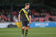 Morecambe forward Shaun Miller  during the Sky Bet League 2 match between York City and Morecambe at Bootham Crescent, York, England on 19 December 2015. Photo by Simon Davies.