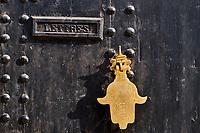 Maroc, région de Meknès-Tafilalet, cité impériale de Meknès classée Patrimoine Mondial de l'UNESCO, porte dans la medina // Morocco, Meknes Tafilalt region, historic city of Meknes, listed as World Heritage by UNESCO, door in the medina