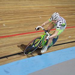 Roxane Kneteman werd tweede in de scratch op het NK