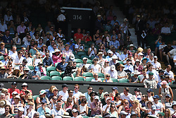 July 7, 2018 - London, London, United Kingdom - Wimbledon Tennis Championships-Day Six. Empty seats on Centre court on Day Six of the Wimbledon Tennis Championships. The day England play Sweden in the World Cup quarter finals. (Credit Image: © Andrew Parsons/i-Images via ZUMA Press)