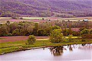 Northcentral Pennsylvania, farm, lake and mountain, Bradford County