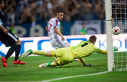 Samed Yesil of Panionios GSS scoring against Grega Sorcan of Gorica during 2nd Leg football match between ND Gorica (SLO) and Panionios GSS (GRE) in 2nd Qualifying Round of UEFA Europa League 2017/18, on July 20, 2017 in Nova Gorica, Slovenia. Photo by Vid Ponikvar / Sportida