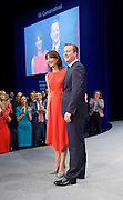 David and Samantha Cameron after his  leader's speech at Conservative Party Conference, manchester, Great Britain <br /> 7th October 2015 <br /> <br /> David Cameron <br /> <br /> Samantha Cameron <br /> <br /> <br /> Photograph by Elliott Franks <br /> Image licensed to Elliott Franks Photography Services