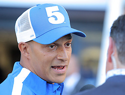 Bobby Zamora of Brighton & Hove Albion is introduced to the crowd before the match after his recent transfer to the club - Mandatory byline: Paul Terry/JMP - 07966386802 - 07/08/2015 - FOOTBALL - Falmer Stadium -Brighton,England - Brighton v Nottingham Forest - Sky Bet Championship