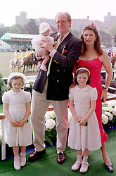 The HON.CHRISTOPHER & MRS GILMOUR with their <br /> children left to right, GABRIELLA, CHRISTABEL and <br /> LEONORA, at a luncheon in Berkshire on 14th May 2000.OEA 5