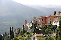 View from Roquebrune Village South of France