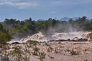 "Laos, Champasak Province. Khone Phapheng waterfalls, the ""Niagara of the East""."