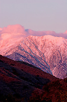 Mount Baldy Winter Sunset Alpenglow, Glendora, California