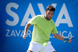 Mirko Cutuli (ITA) play against Altug Celikbilek (TUR) at ATP Challenger Zavarovalnica Sava Slovenia Open 2018, on August 5, 2018 in Sports centre, Portoroz/Portorose, Slovenia. Photo by Urban Urbanc / Sportida