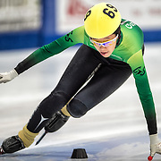 March 18, 2016 - Verona, WI - Katherine Liu, skater number 69 competes in US Speedskating Short Track Age Group Nationals and AmCup Final held at the Verona Ice Arena.