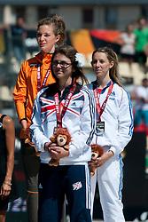 KAMLISH Sophie, LE FUR Marie-Amelie, van RHIJN Marlou, GBR, NED, FRA, Podium, 200m, T44, 2013 IPC Athletics World Championships, Lyon, France