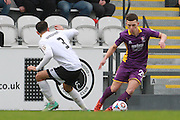Danny Woodards and Ryan Jennings during the Vanarama National League match between Boreham Wood and Cheltenham Town at Meadow Park, Boreham Wood, United Kingdom on 9 January 2016. Photo by Antony Thompson.
