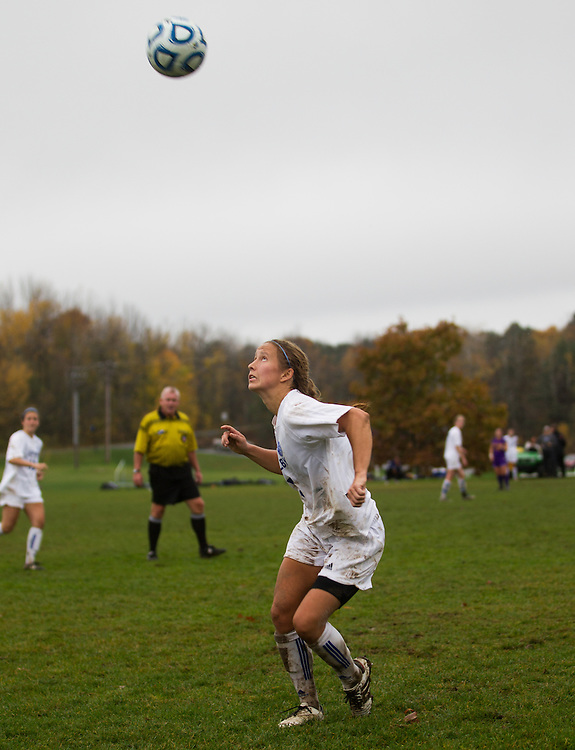 Amanda Findlay of Colby College, in an NCAA Division III college soccer game against Williams College at Colby College, Saturday Oct. 20, 2012 in Waterville, ME. (Dustin Satloff/Colby College Athletics)