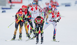 21.12.2014, Nordische Arena, Ramsau, AUT, FIS Nordische Kombination Weltcup, Langlauf, im Bild v.l.: Fabian Riessle (GER), Jason Lamy Chappuis (FRA) und Mikko Kokslien (NOR) // during Cross Country Gundersen 10 km of FIS Nordic Combined World Cup, at the Nordic Arena in Ramsau, Austria on 2014/12/21. EXPA Pictures © 2014, EXPA/ JFK