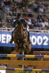 Lennon Dermott (IRL) - Liscalgot <br /> Nations Cup 1<br /> World Equestrian Games Jerez de la Fronteira 2002<br /> Photo © Hippo Foto - Dirk Caremans