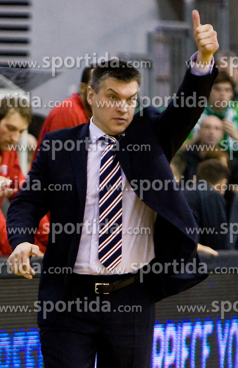 Head coach of CSKA Evgeny Pashutin at Euroleague basketball match between KK Union Olimpija, Ljubljana and CSKA Moscow, on January 7, 2010 in Arena Tivoli, Ljubljana, Slovenia. CSKA defeated Olimpija 80:77 after overtime. (Photo by Vid Ponikvar / Sportida)