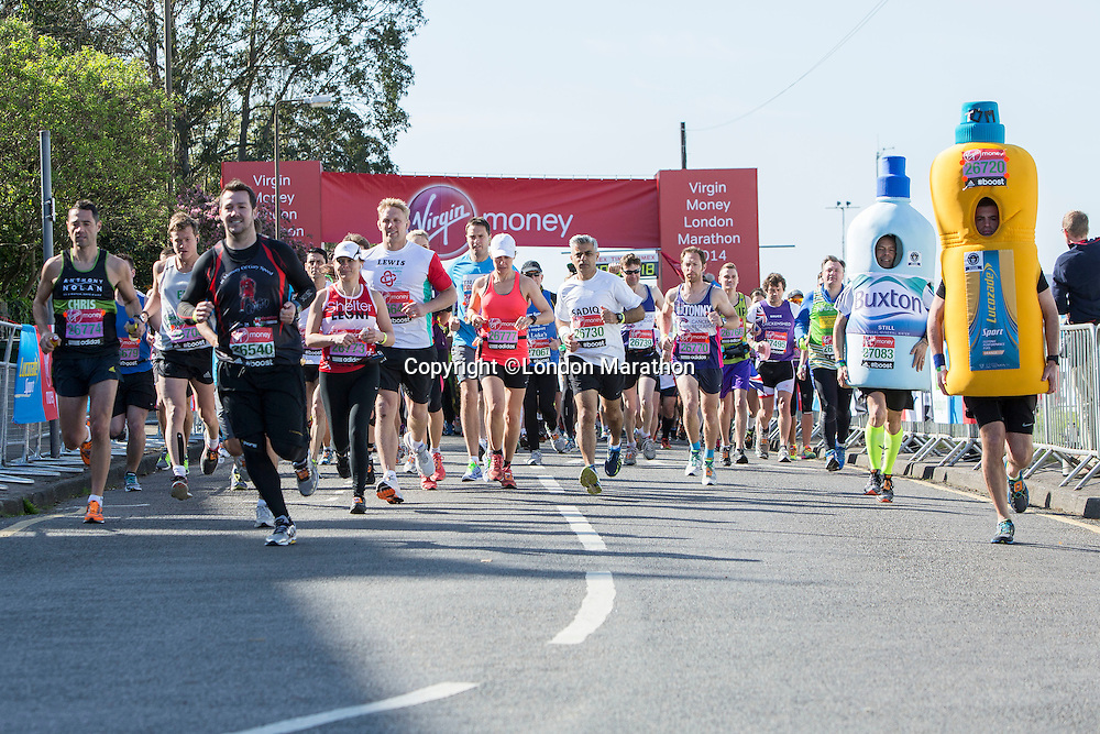 Runners at the Green Start at The Virgin Money London Marathon 2014 on Sunday 13 April 2014<br /> Photo: Neil Turner/Virgin Money London Marathon<br /> media@london-marathon.co.uk