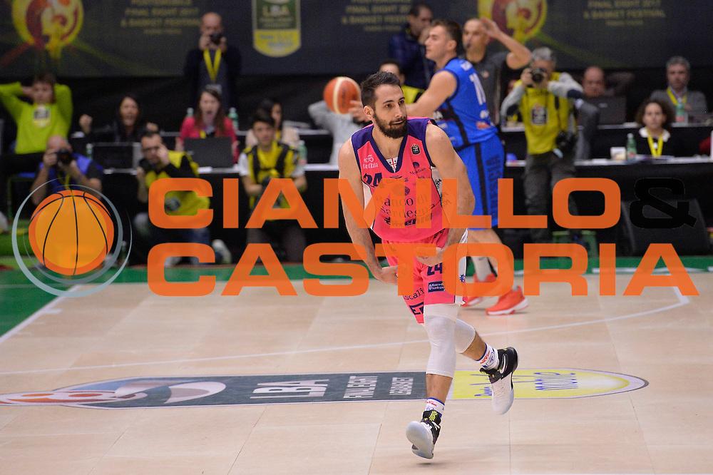 Rok Stipcevic<br /> Banco di Sardegna Sassari vs Basket Leonessa Brescia<br /> Poste Mobile Final Eight F8 2017 <br /> Lega Basket 2016/2017<br /> Rimini, 18/02/2017<br /> Foto Ciamillo-Castoria / I.Mancini